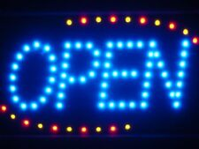 led001-b Blue OPEN Classic LED Business Neon Light Sign