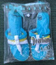 Vintage Dearfoam Slippers Thong Sandal style blue yellow USA size 8 9