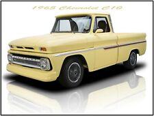 1968 Chevrolet C-10 Pickup Truck Hot Rod Metal Sign Orange Step Side