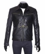 Zip Leather Collared Other Men's Jackets