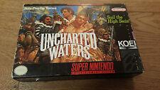 Uncharted Waters US-Version SNES Super Nintendo NTSC inkl. OVP +Anleitung CIB #