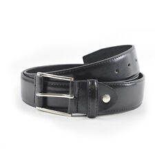 Tom Frank de marca cuero resistente talla XL (104-114cm) Negro Cinturón para