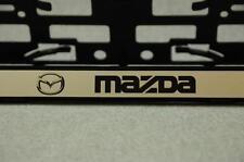 Mazda 2 Stk. Kennzeichenhalter Kfz Auto Pkw EU Halter Grau Schwarz