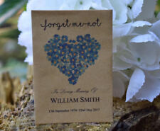 100 Funeral Favour Personalised Seed Packets|Forget Me-not Remembrance(unfilled)