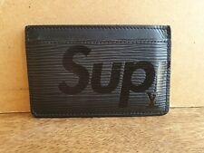 Authentic LOUIS VUITTON X SUPREME EPI Leather Card Wallet CA1187 Authenticate4U
