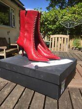 Diseñador de las Señoras Botas Rojo Tamaño 38 LK bennet MRP £ 229