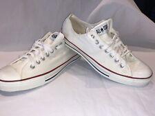 Vtg 80's Converse Chuck Taylor USA White Low Top Men's Canvas Sneakers Sz 11