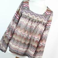 Evie Red Geometric Womens Top Size 12