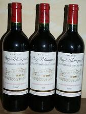 3 Bt St-Emilion GC Château Puy-Blanquet rouge 75cl 1998 Domaine Jacquet