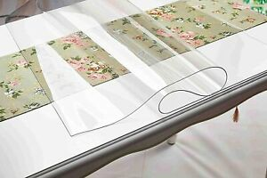 Transparent PVC 1.5 mm Waterproof Oilproof Table Cover