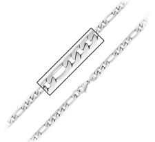 """Inox Jewelry Stainless Steel Polished 6 mm Figaro Chain Necklace 22"""""""