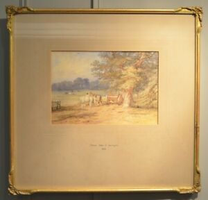 Beautiful 19th C Watercolour By Thomas Baker Of Leamington 1809 -1869 Dated 1839