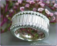 TOP: Edler Brillanten Ring mit Baguette Diamanten, 1,73 ct tw-vvsi WG750 10.000€