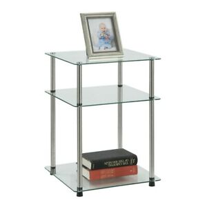 Convenience Concepts Designs2Go Classic Glass 3 Tier End Table, Glass - 157460