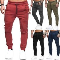 Men Gym Fitness Casual Tracksuit Bottoms Skinny Joggers Sport Pants Trousers