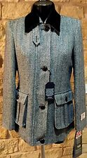 Harris Tweed Hand Woven Ladies Wool Country Riding Blazier Jacket Size10 12 14