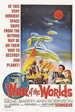 THE WAR OF THE WORLDS Movie POSTER 27x40 B Gene Barry Ann Robinson Les Tremayne