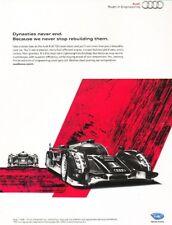 2011 2012 Audi R18 TDI Race Original Advertisement Print Art Car Ad K18