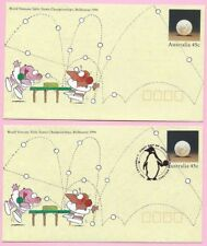 AUSTRALIA 1994 Pair of PSE's - FDC & Mint - VETERANS TABLE TENNIS - Carlton