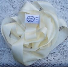 """100% PURE SILK RIBBON ~IVORY ~5 YDS 1"""" [25MM] WIDE"""