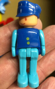 """Two 1988 Thomas & Friends Tank Engine Railway Staff Conductor Action Figure 2.5"""""""