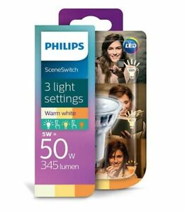 PHILIPS Bulb LED GU10 230V 5W (50 W)  345lm warm white SceneSwitch dimmable A+