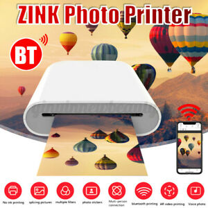 3'' Pocket bluetooth Photo Portable Printer Picture Color Print 400dpi ZINK
