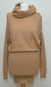 River Island Camel Wool mix Jumper Dress Size 6