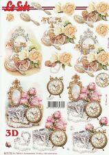 Feuille 3D à découper A4 - 8215.752 Téléphone Réveil - Decoupage Flowers