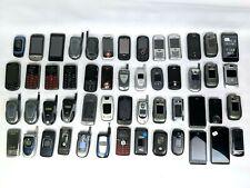 Lot of 52 phones   flip phones   smartphones   D