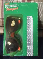 Newport Tobacco Sunglasses Orange Vintage Collectible in Original Package New