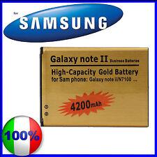 Batteria  Maggiorata Gold 4200 mAh SAMSUNG GALAXY NOTE 2 N7100 - NO DOGANA
