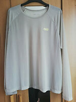 ASOS 4505 WOMENS BEIGE BROWN LONG SLEEVE BLOUSE THIN TOP SIZE 18 STRETCH CREW