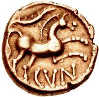 Circa AD 10-43 Celtic Trinovantes & Catuvellauni Cunobelin AV quarter stater