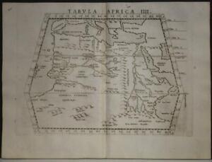 NORTH AFRICA MEDITERRANEAN SEA 1564 PTOLEMY & RUSCELLI UNUSUAL ANTIQUE MAP