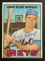 Larry Elliot Mets signed 1967 Topps baseball card #23 Auto Autograph 1