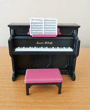 SYLVANIAN FAMILIES SPARES * SWEET MELODY BLACK PIANO + STOOL * COMBINED P+P NEW