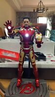 1:9 Scale Tony Stark Head Sculpt Model F 1:9 KingArts Iron Man Mk42/43 Figure