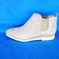 BRUNO PREMI Damen Chelsea Stiefeletten Boots Gr 38 Grau Leder Schuhe NP 149 Neu