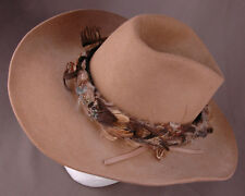 XXX Stetson Cowboy Hat-3X Beaver-Feather Band-Size 7-Brown- 02efdf5cabd9