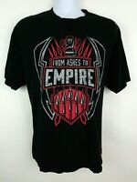 Roman Reigns Ashes To Empire WWE Wrestling T Shirt Mens Size L Black