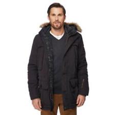 Racing Green Black Faux Fur Trimmed Hood Parka Coat XL Td081 EE 03