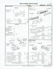 AMC Gremlin 1970 1971 1972 1973 1974 1975 Factory OEM Part Number List gtc