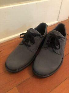 New Ecco blue suede lace up shoes. size 44 EU 10 US