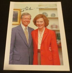 President Jimmy & First Lady Rosalyn Carter dual signed autographed photo