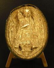 La Vierge Marie & Jesus médaillon religieux en plâtre XVIII / XIX ème religious