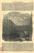 Remains of the Crystal Palace in Hyde Park. London. Disasters 1852 ILN print