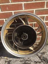 OEM 3.00x16 rear wheel from 83 Yamaha XJ750M MIDNIGHT MAXIM motorcycle