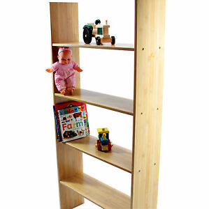 Clip on Bunk Bed Hanging Bamboo Kids Shelf, Books & Toys Storage  H 143 cm