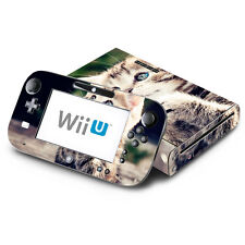 Skin Decal Cover for Nintendo Wii U Console & GamePad - Kitty Praying